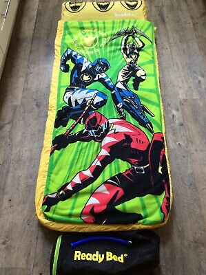 Vhtf Power Rangers Ready Bed Travel Bed For Kids Camping Sleep Overs Vgc