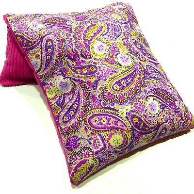 Wheat Bag. Heat Pack  PAISLEY PURPLE BLUE  34 x 17 cm Choose Lavender Unscented