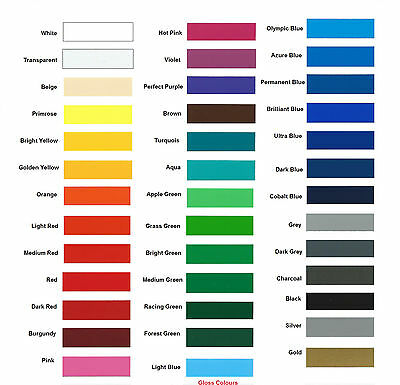 Ritrama Colour Cards Sticky Back Plastic Self Adhesive Sign Vinyl