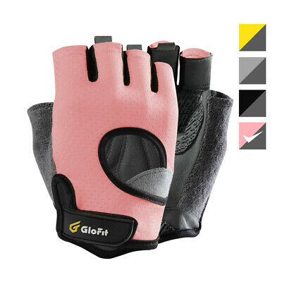 Glofit FREEDOM Workout Gloves, Knuckle Weight Lifting Shorty Medium, Pink