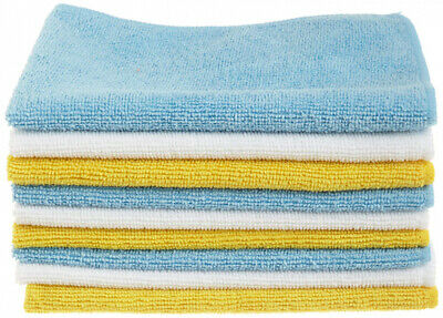 AmazonBasics CW190423 Blue and Yellow 24-Pack Microfiber Cleaning