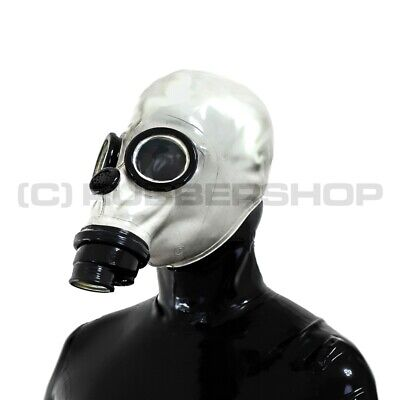 Gas Mask For Latex Rubber Fetish Hood Catsuit Trousers Pants Cosplay Corset Body