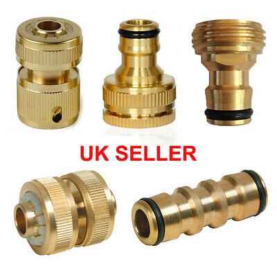 Universal Garden Watering Water Hose Pipe Tap Brass Connector Adaptor Fitting UK