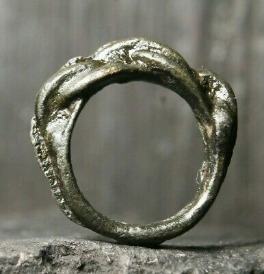Rare Ancient Norse Bronze Ring, Viking Authentic Artifact, 6th-11th Century AD
