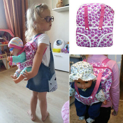 """Child Backpack Schoolbag&Doll Carrier Bag for 18"""" American Our Generation Girls"""