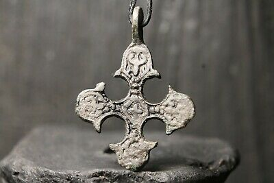 Ancient Viking Bronze Orthodox Cross, Scandinavian Pendant, 9-11th century AD