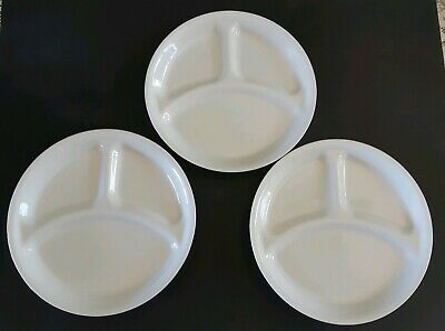 Corelle Winter White Set Of 3 Devided 10inch Plates