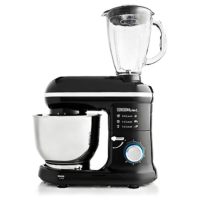 Sensio Home 2-in-1 Food Processor Blender & Stand Mixer Machine - 1000W Electric