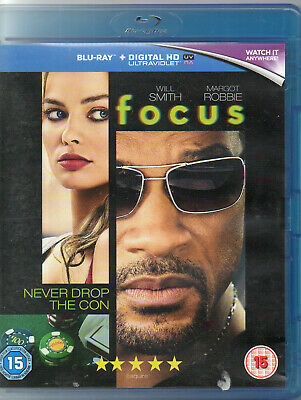 FOCUS (BLU-RAY) WILL SMITH -  Free UK Delivery!!  **New / Sealed**