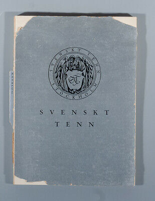 Very rare Svenskt Tenn 1931 pewter catalogue Swedish Grace Fougstedt