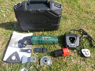 Parkside 12V Cordless Oscillatiing Multi Tool With Case And Charger
