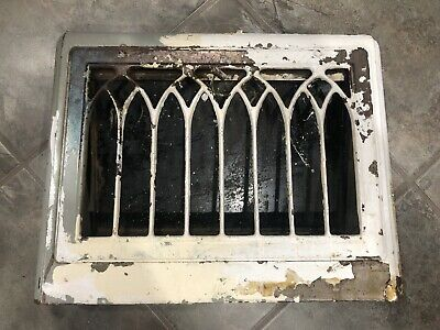 Vintage Metal Vent Grate Cover Heat Floor Register Victorian Rustic Old