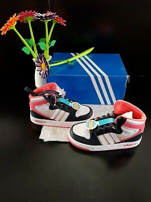 Adidas Originals Girl's Court Attitude I Leather Sneakers Toddler UK Size 8.5/26