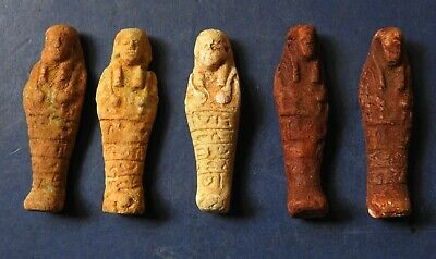 Collection Of Five Ancient Egyptian Miniature Shabti (2)