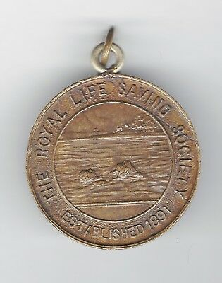 1920 THE ROYAL LIFE SAVING SOCIETY medallion - Swimmer being rescued