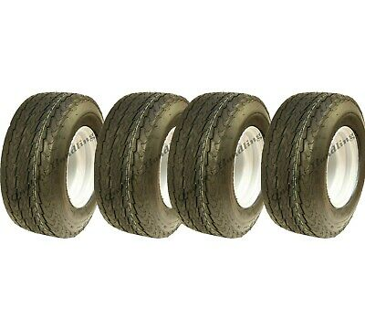 16.5x6.50-8 trailer tyre on rim 6ply high speed road legal mower golf - set of 4