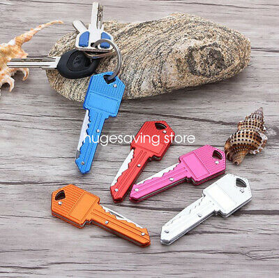 Small Mini Stainless Steel Folding Pocket Knife Keychain Blade Outdoor Survival