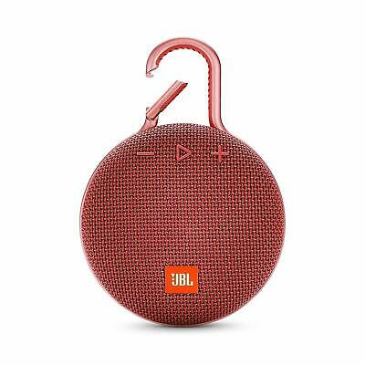 JBL Clip 3 Portable Wireless Bluetooth Speaker Red (JBLCLIP3RED)