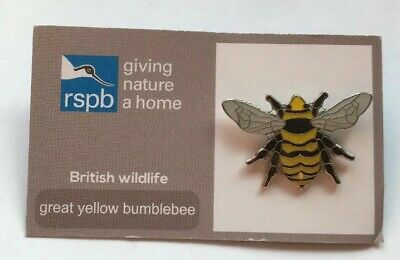 RSPB-British Wildlife GREAT YELLOW BUMBLEBEE Pin Badge(FR).