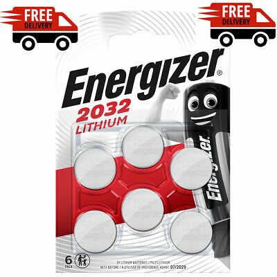 NEW Pack of 6 Energizer CR2032 Lithium Coin Cell Batteries 3V battery Powerful
