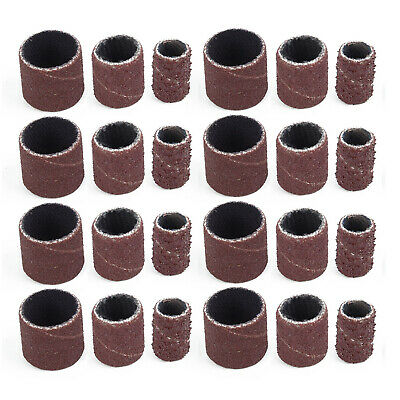 102pc Set Sanding Drum Band Mandrel 1/2'' 3/8'' 1/4'' 120 Grit For Rotary Tools