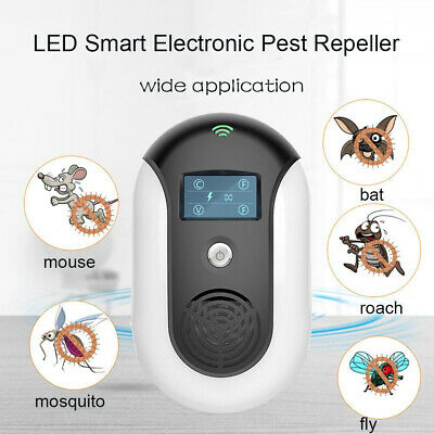 Loskii LED Ultrasonic Pest Repeller Sound Waves Mice Bats Mosquito Insect