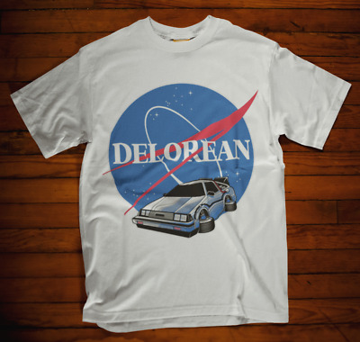 Delorean T-shirt Nasa spoof space back to future mcfly doc brown movie film tee