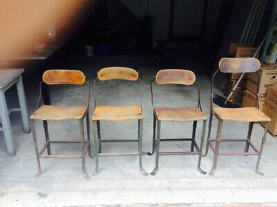 Vintage Industrial Posture Chairs by DoMore set of 4 chairs
