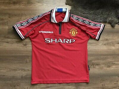 Manchester United 1998/1999/2000 Home Football Shirt Jersey Maglia Umbro