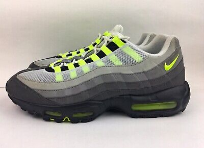 buy online 3004b afaa3 NIKE AIR MAX 95 OG Neon Green Cool Grey Black 2015 Men Size 13 RARE  554970-071