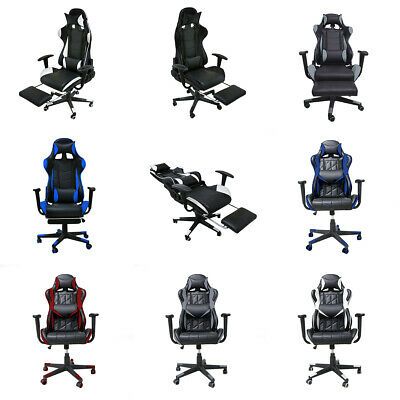 Luxury Gaming Racing Computer Chair Rock Lift Swivel Office Chair with Footstool