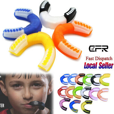 Gel Mouth Guard Gum Shield Kids Junior MMA Boxing Rugby Teeth Protection Sport