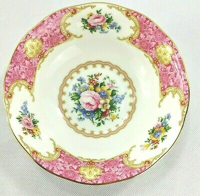 """Royal Albert Lady Carlyle Coupe Cereal Soup Bowl(s) 6"""" Pink MINT Unused (Lot A)"""