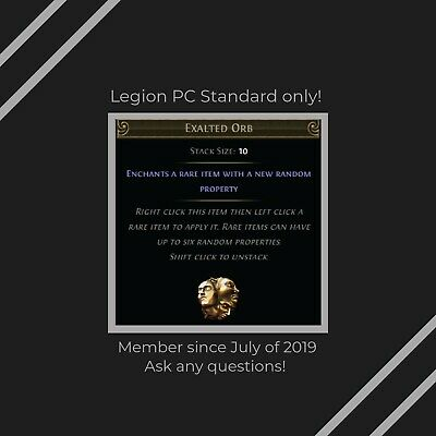 20 x Exalted Orb Path of Exile POE Currency Legion League Softcore!