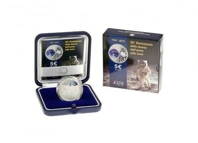 Italy 2019 Silver Proof - 50 Years Of First Landing On The Moon