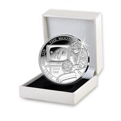Belgio 2019 Silver Proof - 50 Years Of First Landing On The Moon