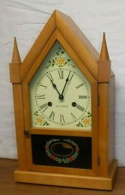 Vintage Seth Thomas Sharon Gothic Cottage Steeple 8 Day Chime Clock Working  Aa
