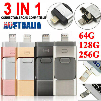 256GB USB i Flash Drive Disk Storage Memory Stick For iPhone iPad PC IOS Android