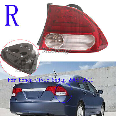 Halogen Tail Light For 2003-05 Honda Civic Sedan Canada//USA Right Outer w//Bulbs