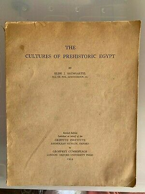 EGYPT Lovers, Illustrated Prehistoric Cultures Book, Baumgartel, ARCHAEOLGY BIN
