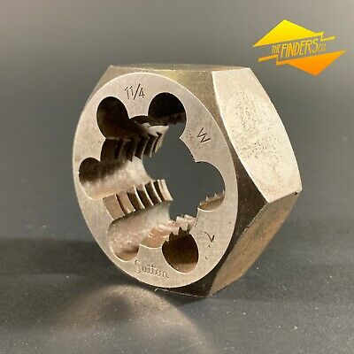 "P&N Australia 1-1/4"" Whitworth 7 Tpi 2-3/16"" Od Die Nut Metalworking Tools Stwb2"
