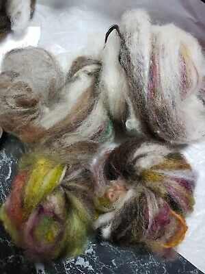 100Gr Wool Fluff Bit N Pieces Baby Batts Clearance!! Spinning Felting  Crafts