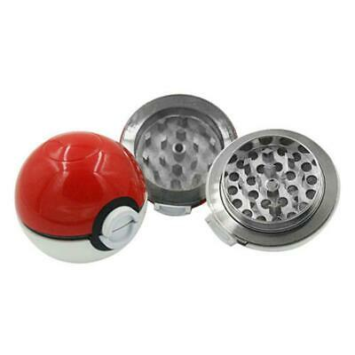55mm 3 Layer Zinc Alloy Pokeball Pokemon Tobacco Mil Spice Herb Grinder Gift .