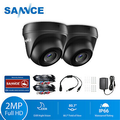 SANNCE 2x 3000TVL CCTV Camera 1080P Outdoor IR Night Vision for Security System