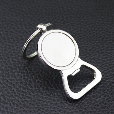 Creative Bottle Opener Keychain Key Ring Metal Beer Openers Kitchen Drink Tool
