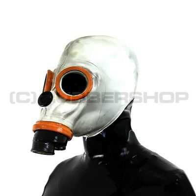 Latex Rubber Fetish Gas Mask For Catsuit Gloves Hood Body Corset Cosplay Leather