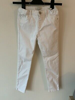 Girls River Island Ripped Skinny Jeans Age 10 Years White