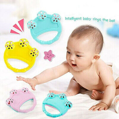 Cartoon Infant Baby Bell Rattles Newborns Toy Hand Toy For Kids Music Toy F6