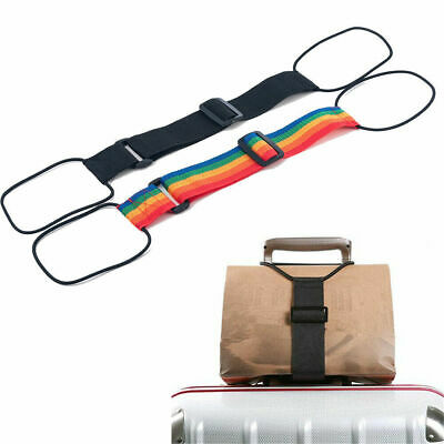 Add A Bag Strap Travel Luggage Suitcase Adjustable Belt Carry On Bungee Strap F6