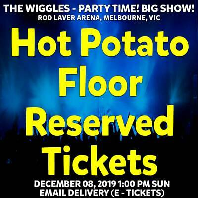 The Wiggles | Melbourne | Hot Potato Floor Reserved Tickets Sun 08 Dec 2019 1Pm